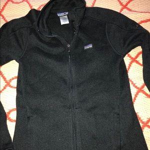 Patagonia black full zip sweater jacket fleece s